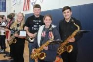 Band seniors Kayla Frazer, Brandon Lane, Sydney Bissonnette, and Chris Catania.