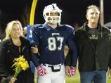 Senior Billy Brady and his parents.