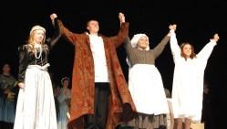Cast of Romeo and Juliet scene: Victoria Pratt, Markus Rohwetter,Georgia Panagiotidis and Genesis Rojas.