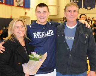Billy Brady and his parents