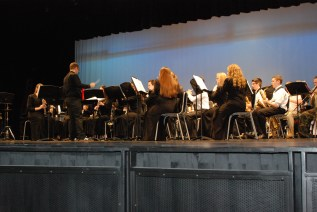 "The Rockland High School concert band performs selections from the musical ""Miss Saigon"""
