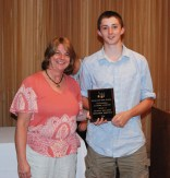 Junior Benjamin McKenna was presented an Academic Achievement Award for Physical Education by Physical Education Director Brenda Folsom.
