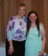 Taylor Reis received the I Dare You Award from Assistant Principal Susan Patton.