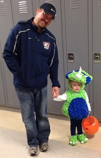 Mr. Rowe with his daughter Isla