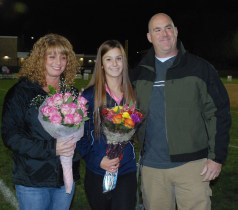 Jenna Novio with her parents, Noelle and Rick.