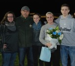 Molly McDonough with her parents Val and Tommy, her sister Meaghan and her brother Sean