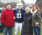 #21 Alec Donegan with his parents Dee Dee and Matthew and his grandmother Alice