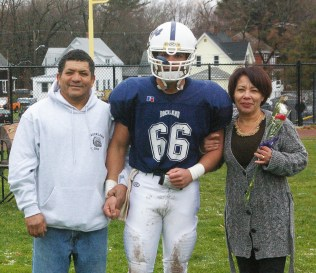 #66 Fabiano Rosa with his parents, Vera and Paulo