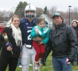 #2 Liam Ball accompanied by his sisters, Sam and Riley and his Dad, Terrence
