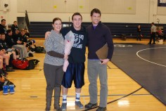 Senior Alec Donegan with his Mom and Coach Brown