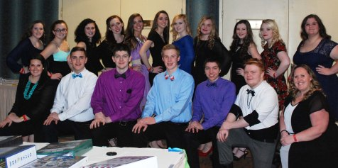 RHS SGC members at the annual MASC banquet