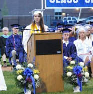 Alyssa Collins, Valedictorian of the Class of 2015.