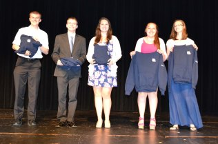 Excellence in Math Awards went to Markus Rohwetter, Patrick Butler, Alyssa Collins, Stephanie Poirier, and Natalie Ellard. Also receiving a math award was Iman Bendarkawi