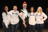 Zach and the hosts of the Mr. Rockland contest. photo by Megan Lund