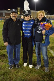 Leah DeCecco and her parents, Kathy and Nick