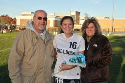 Lexie Carchedi with her parents