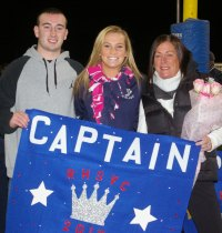 Sam Aylward with mom, Susan and her brother, Colin.