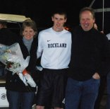 JD Lenihan with his mother, Deirdre and his father, William