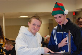 Senior Class President Mike Ahern and Senior Class Vice President Matt Kirslis