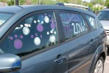 Meghan Foster's decorated car