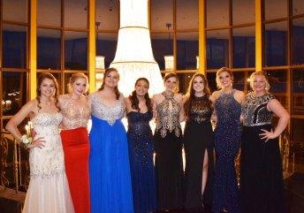 Rachel McDermott, Jessie Lutts, Shannon Lindahl, Maddie Cedrone, Noelle Atkins, Taylor Gallagher, Sydney Wells and Caitlin Yannizzi