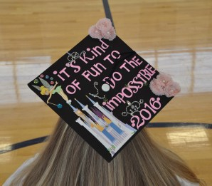 Caitlin Yannizzi's cap says its all
