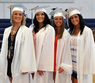 Cheerleaders! Sam Alyward, KTR, Kylie Keefe, Carly Reardon