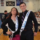 Mrs. Shaughnessy and Mr. Finn were voted as this year's Faculty Mr. and Mrs. Rockand. photo by Jayanna Parham