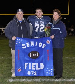 Leo Field with his parents Caroline and Lee