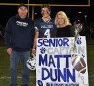 Captain Matt Dunn with his parents, Steve and Carla