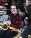 Lauren Zaremba is an accomplished saxophonist. She played at Senior SEMSBA courtesy photo