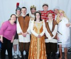 Ms. Walsh and the cast of A Midsummer Night's Dream