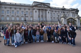 The Travel Club visited Buckingham Palace. photo courtesy of Ms. Walsh