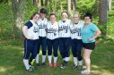 The seniors got their wish yesterday as the softball team qualified for tournament, the first spring team to do so, with a win over Middleboro. Veritas photo