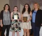 Sarah Pollard and Kaili Rose Dummott-Hill received art awards
