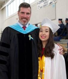 Dr. Cron and Valedictorian Luana Lima