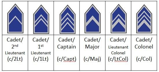 Afjrotc Officer Cadet Rankss Rhs Afjrotc