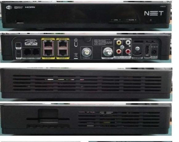 Configuração inicial do decodificador da NET
