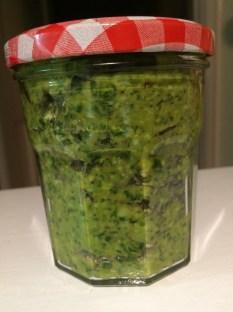 Broad bean, mint and basil pesto