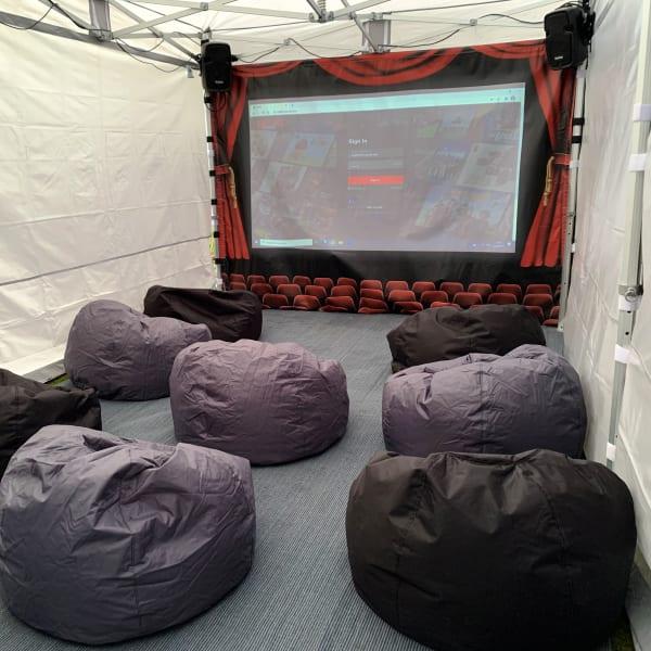 garden cinema hire