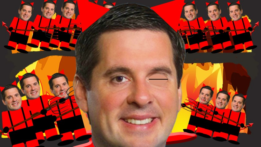 Devin Nunes, Donald Trump, Big Dick and The Twins, Rhubarb Palace Music