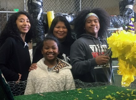 Float work begins back in March with getting the float ready with chicken wire, petal paper and a beautiful design--all only possible with help from volunteers of all ages!