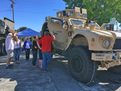 The 13th CSSB from JBLM brought out big vehicles to show to all ages.