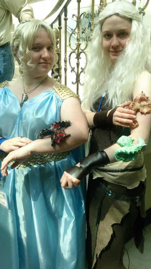 Myself and another Daenerys with dragons on our arms.