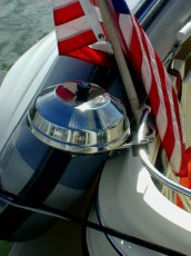 Grill and flag attachment in cockpit