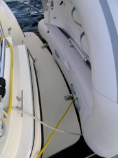 Weaver dinghy davit system