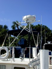 Custom radar pole installation