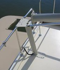 Close up of custom mast