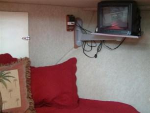 TV installation in V-berth