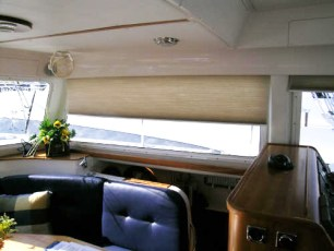 Custom shades in starboard hull